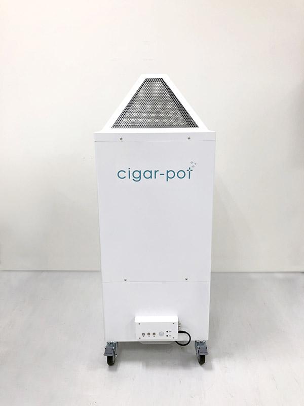 たばこ煙 脱臭脱煙装置 「シガーPOT」